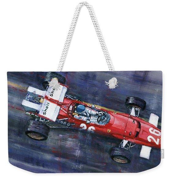 1970 Monaco Gp Ferrari 312 B Jacky Ickx  Weekender Tote Bag