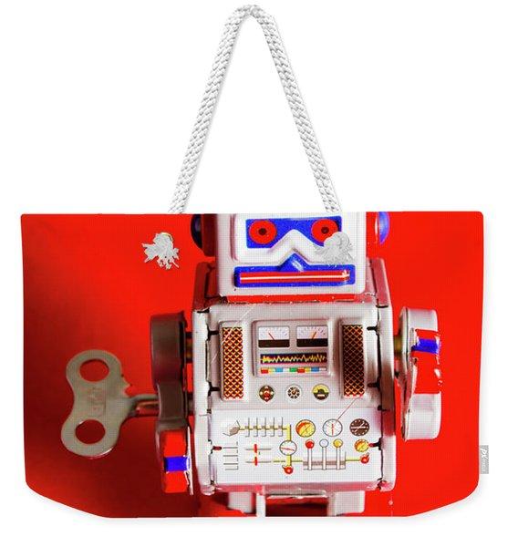 1970s Wind Up Dancing Robot Weekender Tote Bag