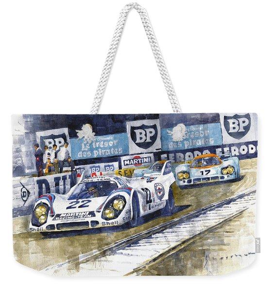 1971 Le Mans Winner 24 Porsche 917k #22 Weekender Tote Bag