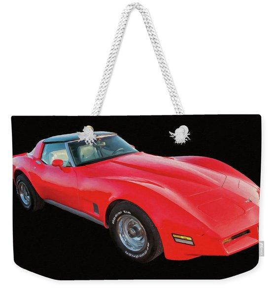 1977 Chevy Corvette T Tops Digital Oil Weekender Tote Bag