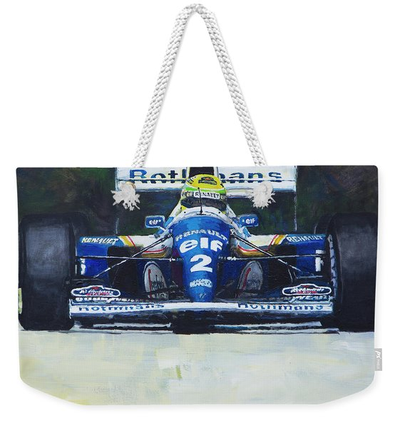 1994 Ayrton Senna Williams Renault Fw16 Weekender Tote Bag