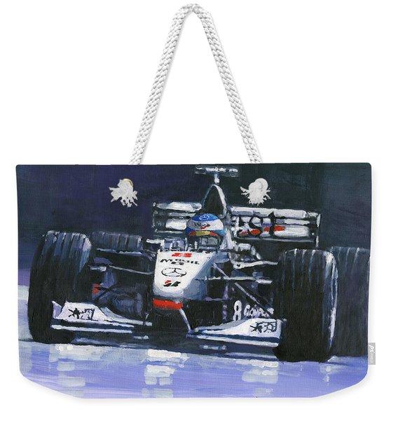 1998 Mika Hakkinen World Champion Formula One  Mclaren Mp4-13 Weekender Tote Bag