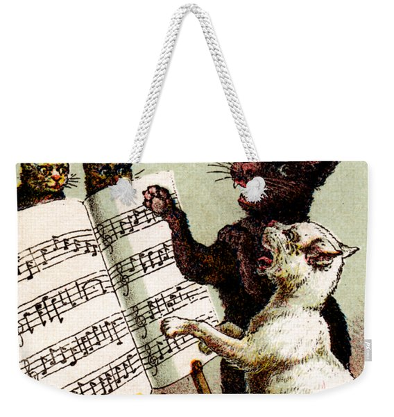 19th C. Quartet Of Singing Cats Weekender Tote Bag