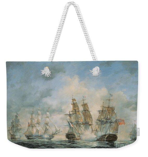 19th Century Naval Engagement In Home Waters Weekender Tote Bag