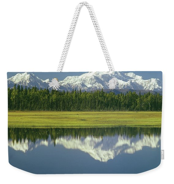 1m1325 Mt. Hunter And Mt. Denali Weekender Tote Bag
