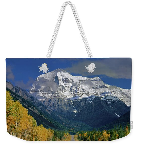 1m2441-h Mt. Robson And Yellowhead Highway H Weekender Tote Bag