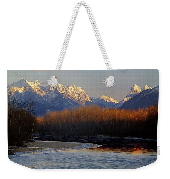 1m4525 Skykomish River And West Central Cascade Mountains Weekender Tote Bag