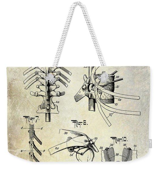 1911 Anatomical Skeleton Patent Weekender Tote Bag