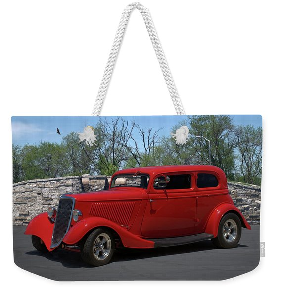 1934 Ford Sedan Hot Rod Weekender Tote Bag