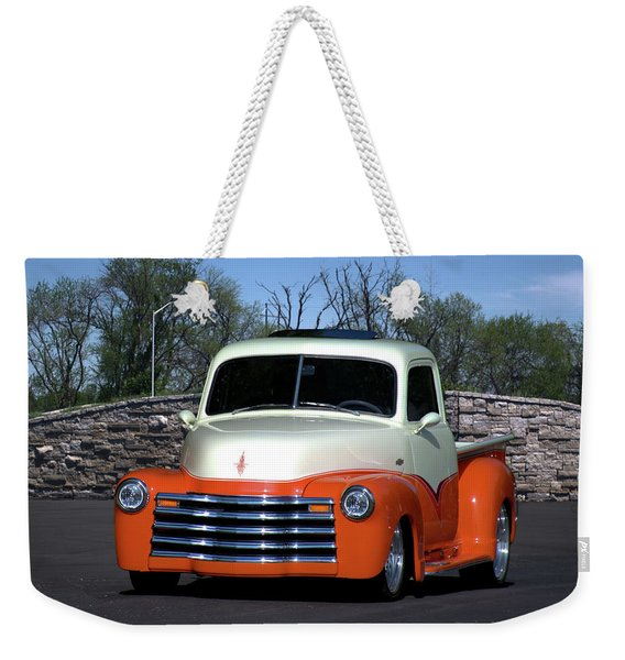 1952 Chevrolet Pickup Truck Weekender Tote Bag