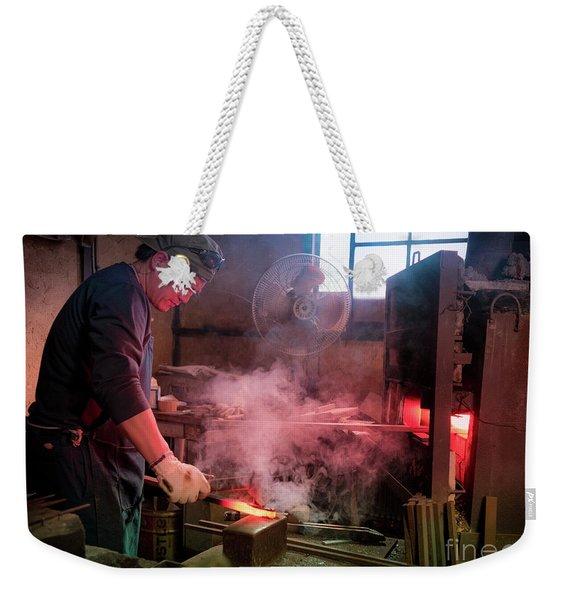 4th Generation Blacksmith, Miki City Japan Weekender Tote Bag