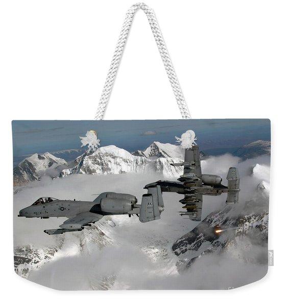 A-10 Thunderbolt IIs Fly Weekender Tote Bag