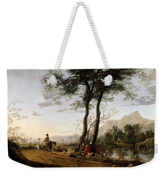 A Road Near A River  Weekender Tote Bag