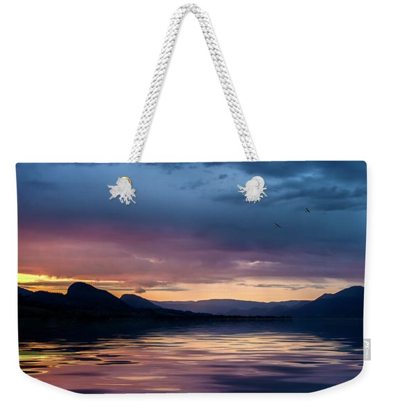 Across The Clouds I See My Shadow Fly Weekender Tote Bag