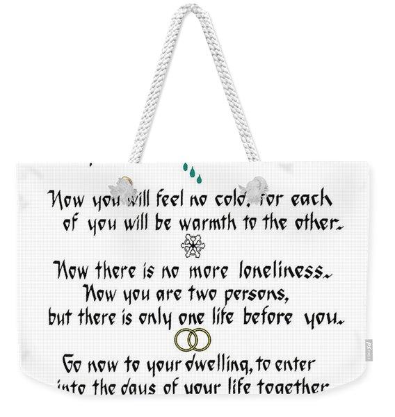 Apache Wedding Blessing Weekender Tote Bag