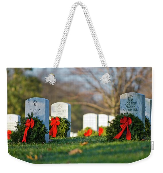 Arlington National Cemetery At Christmas Weekender Tote Bag