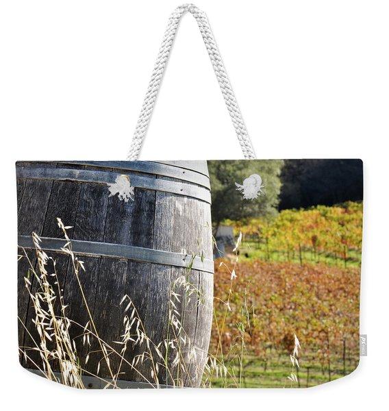 Barrel In The Vineyard Weekender Tote Bag