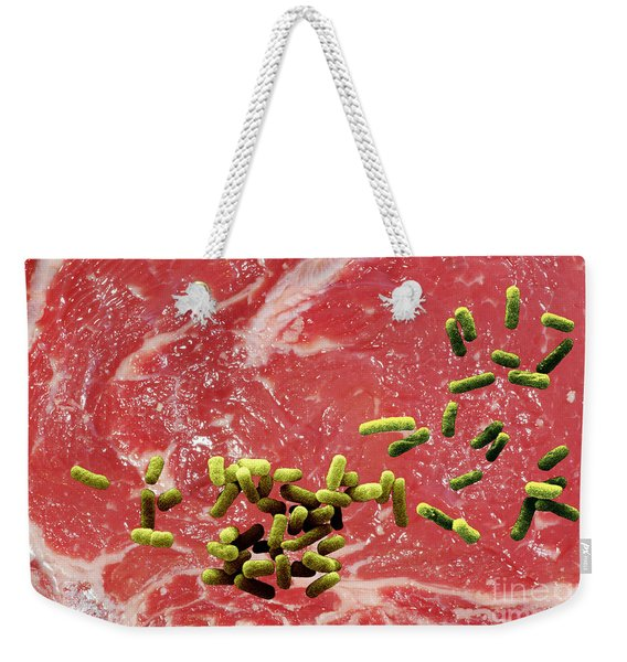 Beef Contaminated With E. Coli Weekender Tote Bag