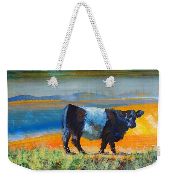 Belted Galloway Cow Weekender Tote Bag