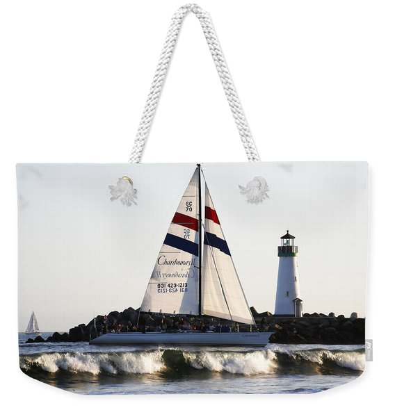 2 Boats Approach Weekender Tote Bag