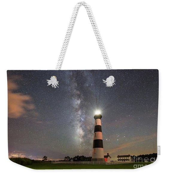 Bodie Island Light Milky Way Weekender Tote Bag