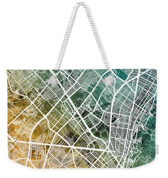 Bogota Colombia City Map Weekender Tote Bag