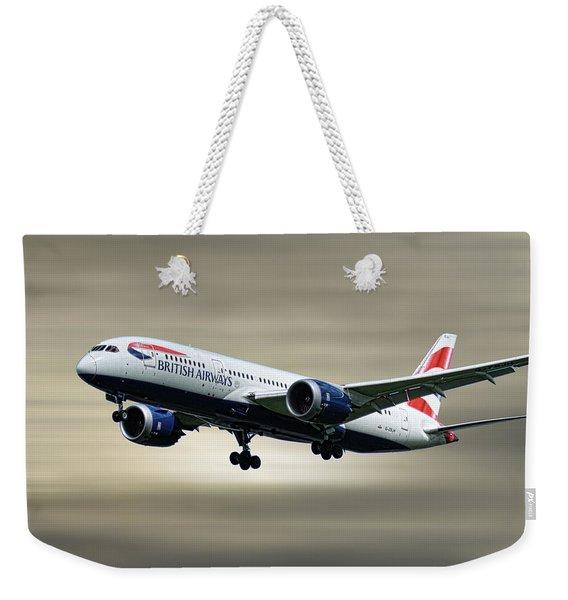 British Airways Boeing 787-8 Dreamliner Weekender Tote Bag