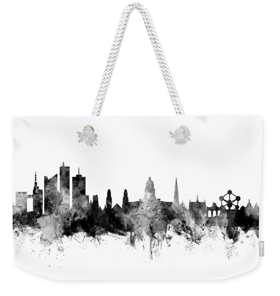 Brussels Belgium Skyline Weekender Tote Bag