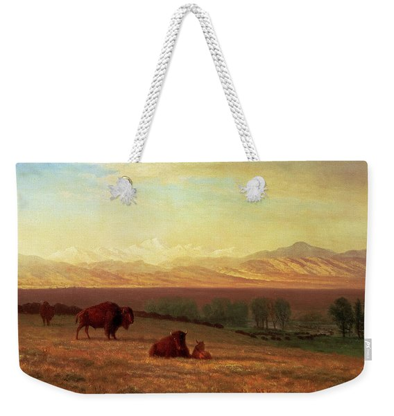 Buffalo On The Plains Weekender Tote Bag