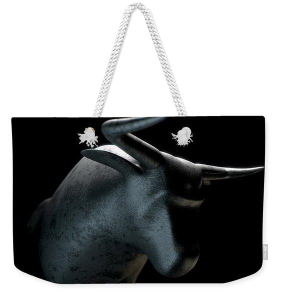 Bull Statue Weekender Tote Bag