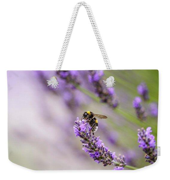 Bumblebee And Lavender Weekender Tote Bag