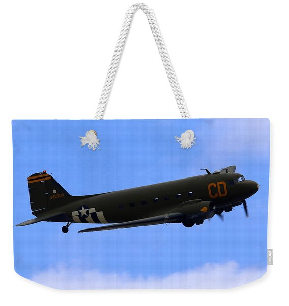 C-47 Gooney Bird At Salinas Weekender Tote Bag