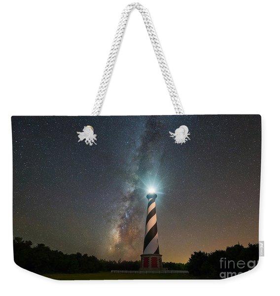 Cape Hatteras Lighthouse Milky Way Weekender Tote Bag
