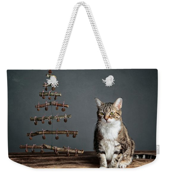 Cat Christmas Weekender Tote Bag