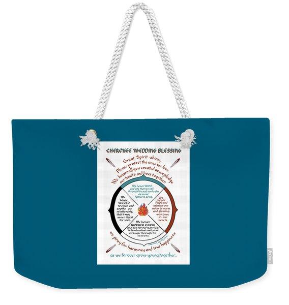 Cherokee Wedding Blessing Weekender Tote Bag