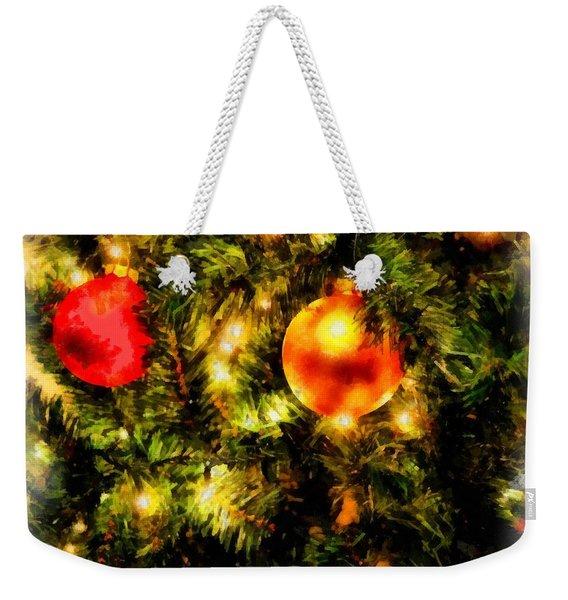 Christmas Decorations Weekender Tote Bag
