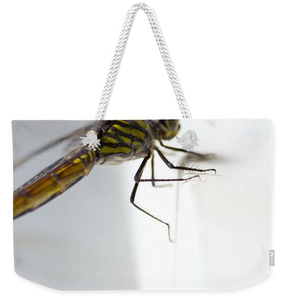 Close Up Shoot Of A Anisoptera Dragonfly Weekender Tote Bag
