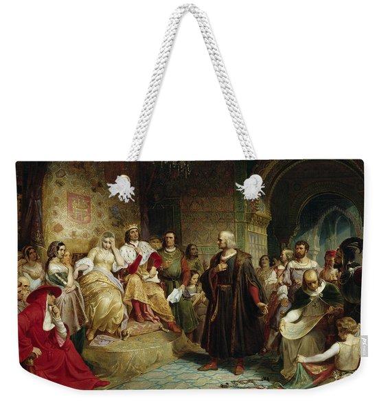 Columbus Before The Queen Weekender Tote Bag