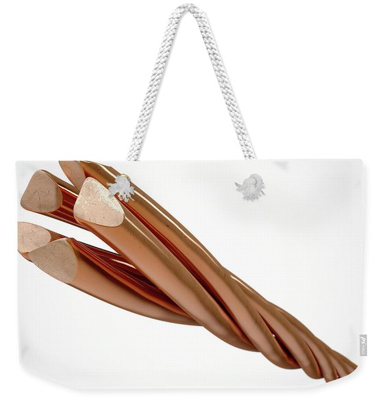 Copper Wire Strands Weekender Tote Bag
