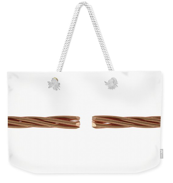 Copper Wire Strands Disconnected Weekender Tote Bag