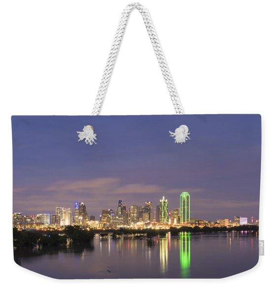 Dallas Skyline Twilight Weekender Tote Bag