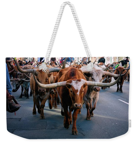 Denver National Western Stock Show Kick-of Parade 2018 Weekender Tote Bag