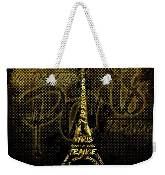 Digital-art Eiffel Tower Weekender Tote Bag