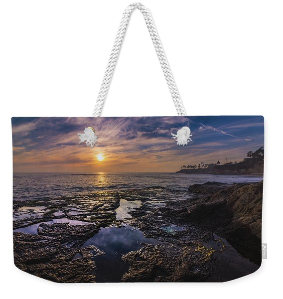 Diver's Cove Sunset Weekender Tote Bag