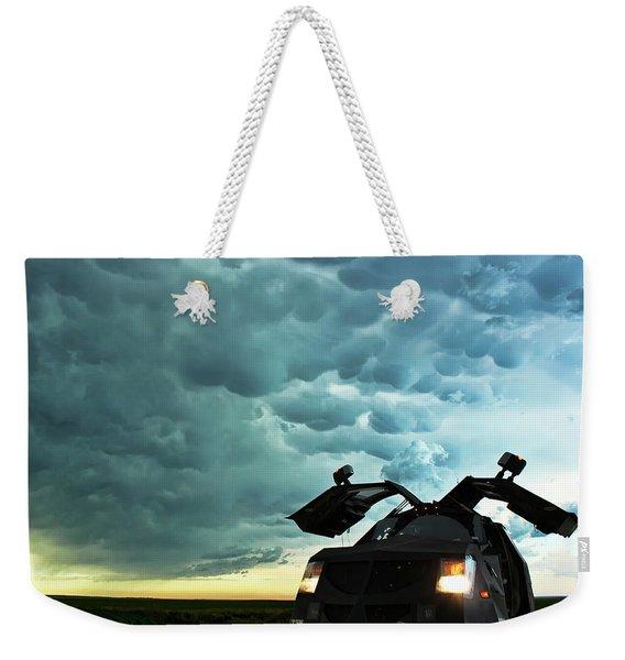 Dominating The Storm Weekender Tote Bag