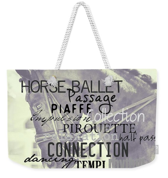 Double Bridle Quote Weekender Tote Bag