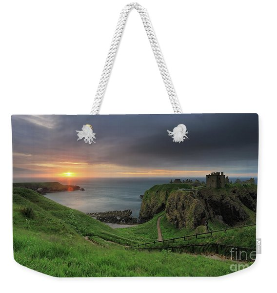 Dunnottar Castle At Sunrise Weekender Tote Bag