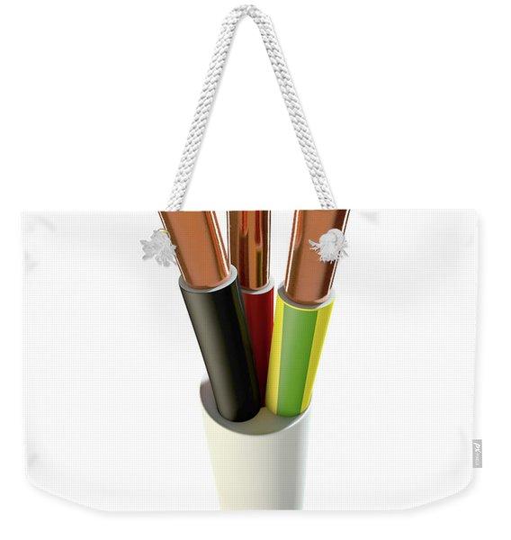 Electrical Cable Weekender Tote Bag