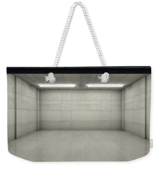 Empty Double Garage Night Weekender Tote Bag