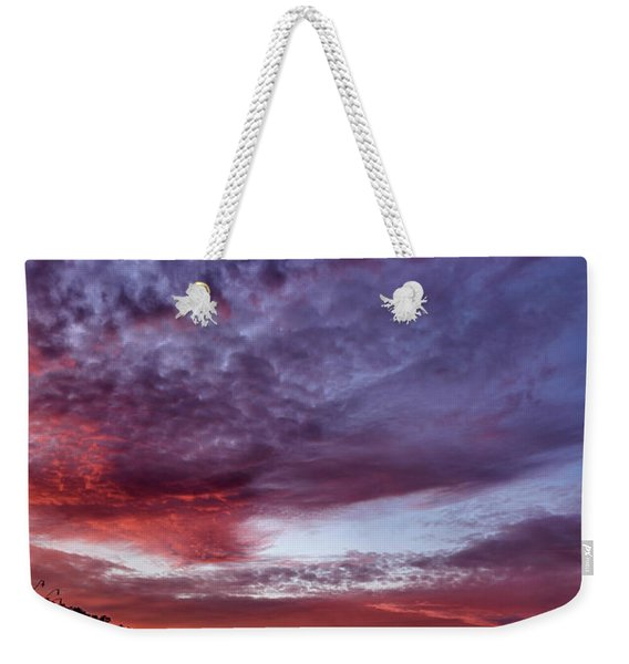 First Light On The Lake Weekender Tote Bag